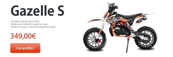 Nouveautés Mister Quad : Dirt Bike Gazelle Sport 49CC